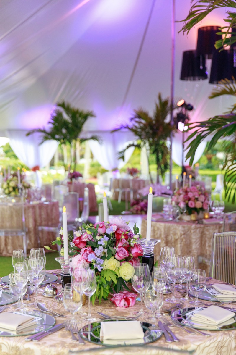 Details inside the gorgeous tent